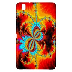 Crazy Mandelbrot Fractal Red Yellow Turquoise Samsung Galaxy Tab Pro 8 4 Hardshell Case