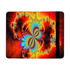 Crazy Mandelbrot Fractal Red Yellow Turquoise Samsung Galaxy Tab Pro 8 4  Flip Case by EDDArt