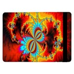 Crazy Mandelbrot Fractal Red Yellow Turquoise Samsung Galaxy Tab Pro 12.2  Flip Case Front