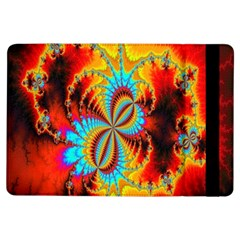 Crazy Mandelbrot Fractal Red Yellow Turquoise Ipad Air Flip by EDDArt