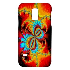 Crazy Mandelbrot Fractal Red Yellow Turquoise Galaxy S5 Mini by EDDArt