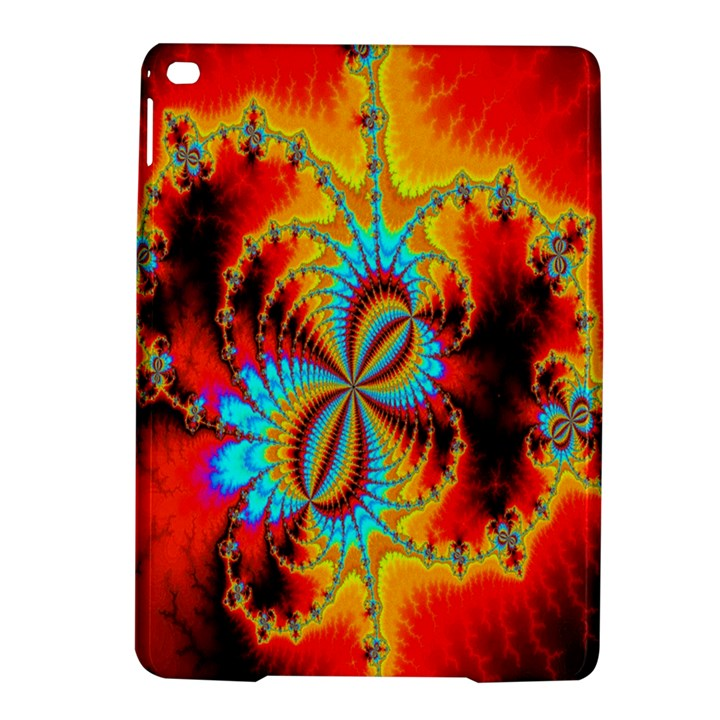 Crazy Mandelbrot Fractal Red Yellow Turquoise iPad Air 2 Hardshell Cases