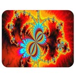 Crazy Mandelbrot Fractal Red Yellow Turquoise Double Sided Flano Blanket (Medium)  60 x50 Blanket Front