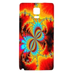 Crazy Mandelbrot Fractal Red Yellow Turquoise Galaxy Note 4 Back Case by EDDArt