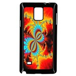 Crazy Mandelbrot Fractal Red Yellow Turquoise Samsung Galaxy Note 4 Case (Black) Front