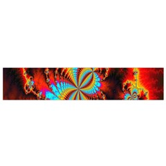 Crazy Mandelbrot Fractal Red Yellow Turquoise Flano Scarf (small) by EDDArt