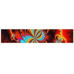 Crazy Mandelbrot Fractal Red Yellow Turquoise Flano Scarf (large)