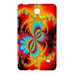 Crazy Mandelbrot Fractal Red Yellow Turquoise Samsung Galaxy Tab 4 (7 ) Hardshell Case  by EDDArt