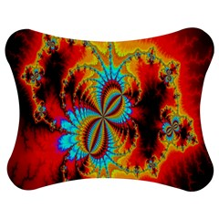 Crazy Mandelbrot Fractal Red Yellow Turquoise Jigsaw Puzzle Photo Stand (bow) by EDDArt