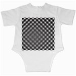 Modern Dots In Squares Mosaic Black White Infant Creepers Back