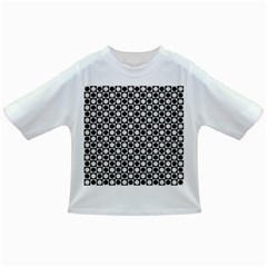 Modern Dots In Squares Mosaic Black White Infant/toddler T Shirts