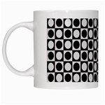 Modern Dots In Squares Mosaic Black White White Mugs