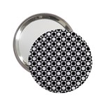 Modern Dots In Squares Mosaic Black White 2.25  Handbag Mirrors Front
