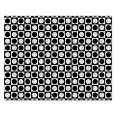 Modern Dots In Squares Mosaic Black White Rectangular Jigsaw Puzzl by EDDArt
