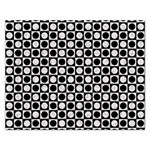 Modern Dots In Squares Mosaic Black White Rectangular Jigsaw Puzzl