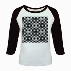 Modern Dots In Squares Mosaic Black White Kids Baseball Jerseys