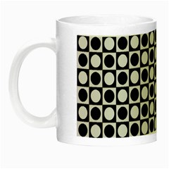 Modern Dots In Squares Mosaic Black White Night Luminous Mugs