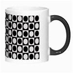 Modern Dots In Squares Mosaic Black White Morph Mugs Right