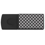 Modern Dots In Squares Mosaic Black White USB Flash Drive Rectangular (4 GB)