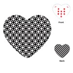Modern Dots In Squares Mosaic Black White Playing Cards (Heart)