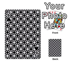 Modern Dots In Squares Mosaic Black White Playing Cards 54 Designs