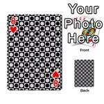 Modern Dots In Squares Mosaic Black White Playing Cards 54 Designs  Front - Heart8