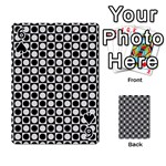 Modern Dots In Squares Mosaic Black White Playing Cards 54 Designs  Front - Spade6