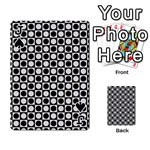 Modern Dots In Squares Mosaic Black White Playing Cards 54 Designs  Front - SpadeJ