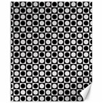 Modern Dots In Squares Mosaic Black White Canvas 16  x 20
