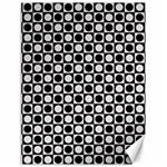 Modern Dots In Squares Mosaic Black White Canvas 18  x 24