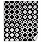 Modern Dots In Squares Mosaic Black White Canvas 20  x 24   24 x20 Canvas - 1