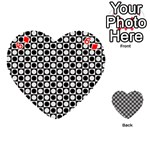 Modern Dots In Squares Mosaic Black White Playing Cards 54 (Heart)  Front - Diamond6