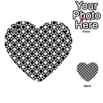 Modern Dots In Squares Mosaic Black White Playing Cards 54 (Heart)  Front - Club6
