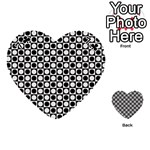 Modern Dots In Squares Mosaic Black White Playing Cards 54 (Heart)  Front - Club7