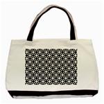 Modern Dots In Squares Mosaic Black White Basic Tote Bag (Two Sides) Back