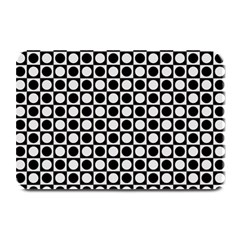 Modern Dots In Squares Mosaic Black White Plate Mats by EDDArt