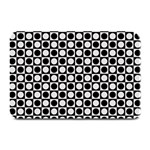Modern Dots In Squares Mosaic Black White Plate Mats 18 x12 Plate Mat - 1