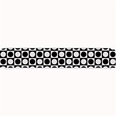 Modern Dots In Squares Mosaic Black White Small Bar Mats