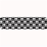 Modern Dots In Squares Mosaic Black White Large Bar Mats