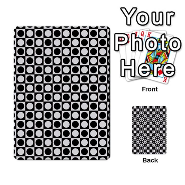 Modern Dots In Squares Mosaic Black White Multi-purpose Cards (Rectangle)