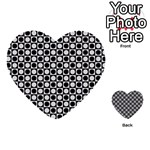 Modern Dots In Squares Mosaic Black White Multi-purpose Cards (Heart)