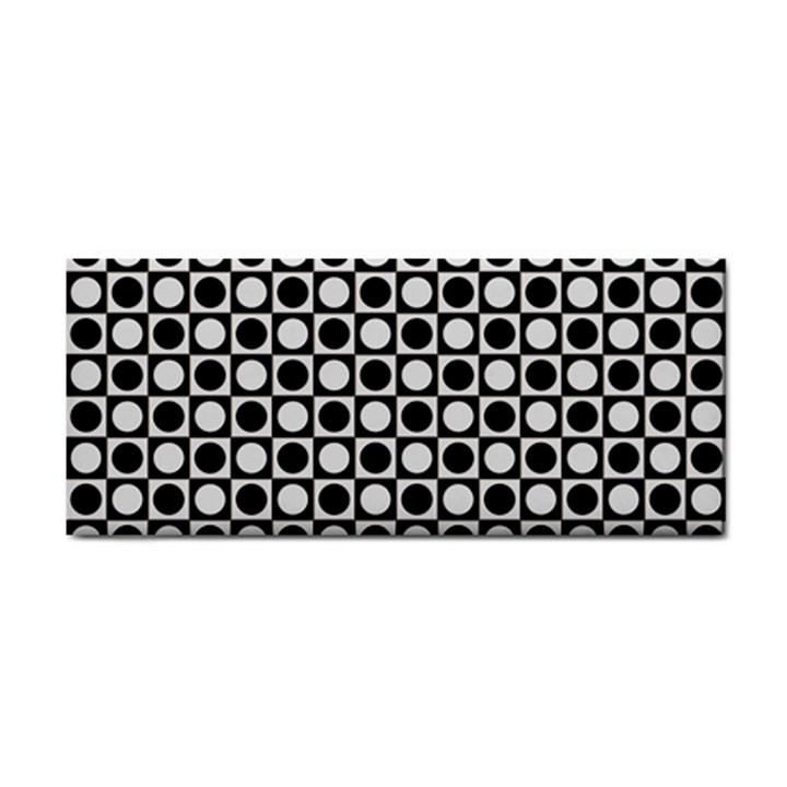 Modern Dots In Squares Mosaic Black White Hand Towel