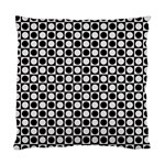Modern Dots In Squares Mosaic Black White Standard Cushion Case (Two Sides)