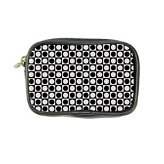 Modern Dots In Squares Mosaic Black White Coin Purse