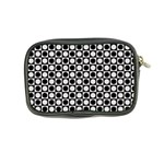 Modern Dots In Squares Mosaic Black White Coin Purse Back