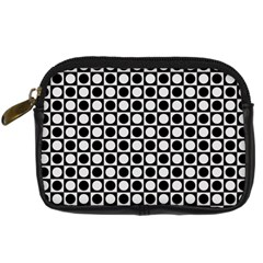Modern Dots In Squares Mosaic Black White Digital Camera Cases