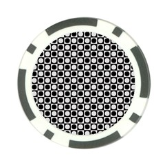 Modern Dots In Squares Mosaic Black White Poker Chip Card Guards (10 pack)