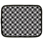 Modern Dots In Squares Mosaic Black White Netbook Case (XL)