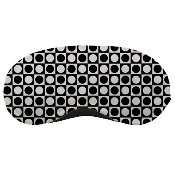 Modern Dots In Squares Mosaic Black White Sleeping Masks