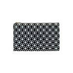 Modern Dots In Squares Mosaic Black White Cosmetic Bag (Small)